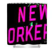 Neon New Yorker Shower Curtain