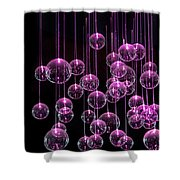 Neon  Nights Shower Curtain