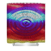 Neon Water Puddle Shower Curtain