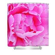 Neon Pink Peony Shower Curtain