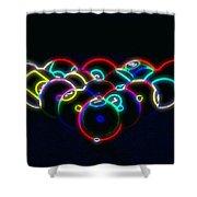 Neon Pool Balls Shower Curtain