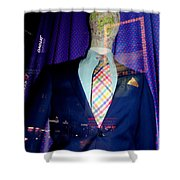 Neon Reflections Shower Curtain