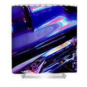 Neon Reflections - Ford V8 Pickup Truck -1044c Shower Curtain