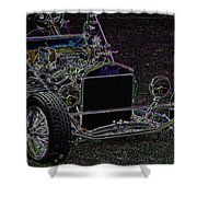 Neon Roadster Shower Curtain