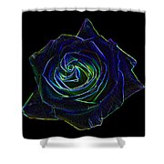 Neon Rose 5 Shower Curtain