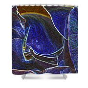 Neon Rose 2 Shower Curtain
