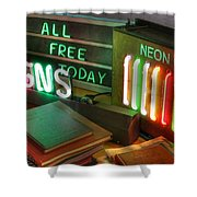 Neon Sign Shower Curtain