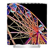 Neon Spin Shower Curtain