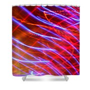 Neon Swell Shower Curtain
