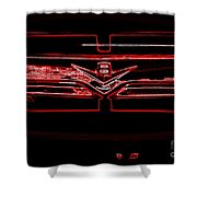 Neon Truck Grill Shower Curtain