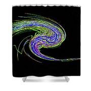Neon Twirl Shower Curtain