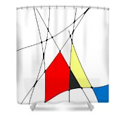 neoplasticism 10 V Shower Curtain