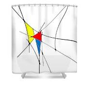 neoplasticism 11 II Shower Curtain