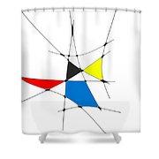 neoplasticism 11 IV Shower Curtain