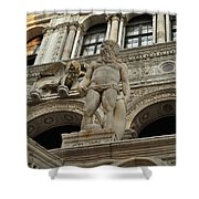 Neptune And The Lion Atop The Giants Staircase Shower Curtain