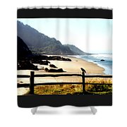 Neptune Beach Crow Shower Curtain