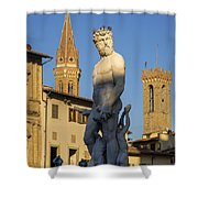 Neptune Statue - Florence Shower Curtain