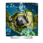 Neptune's Daughter Shower Curtain