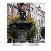 Neptune's Fountain - Gdansk Shower Curtain