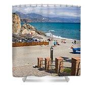 Nerja Beach In Spain Shower Curtain