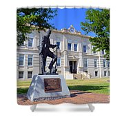 Ness County Courthouse In Kansas Shower Curtain