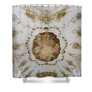 Nesselwang Church Ceiling And Organ Shower Curtain