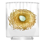 Nest And Egg Shower Curtain