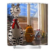 Nested Cats Shower Curtain
