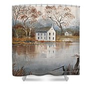Nesting Crows Shower Curtain