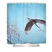 Nesting Heron Shower Curtain