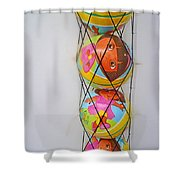 Net Balls Shower Curtain