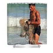 Net Fisherman In Tulum Shower Curtain