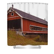 Netcher Road Covered Bridge Shower Curtain