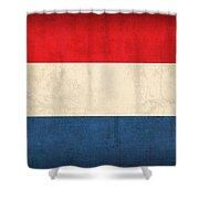 Netherlands Flag Vintage Distressed Finish Shower Curtain by Design Turnpike