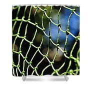 Netting - Abstract Shower Curtain by Kaye Menner