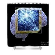 Neuron And Brain Shower Curtain