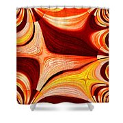Neutral Swirls Fractured Shower Curtain