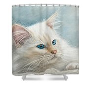 Neva Masquerade Cat Shower Curtain