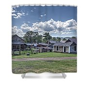 Nevada City Ghost Town - Montana Shower Curtain