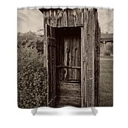 Nevada City Ghost Town Outhouse - Montana Shower Curtain