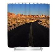 Nevada. Desert Road Shower Curtain
