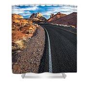 Nevada Highways Shower Curtain