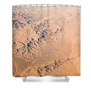 Nevada Mountains Aerial View Shower Curtain