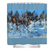 Neve In Riva A Lago Shower Curtain