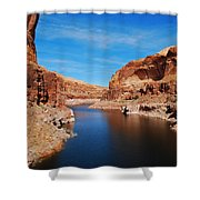 Never Ending Waterways Shower Curtain
