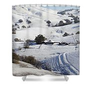 Never Snows In California Shower Curtain