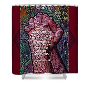 Never Stop Praying Shower Curtain