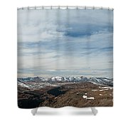 Never Summer Mountains From Rock Cut In Moraine Park Rocky Mountain National Park Shower Curtain