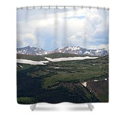 Never Summer Watercolor Shower Curtain