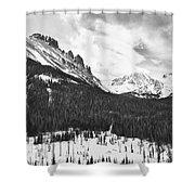 Never Summer Wilderness Area Panorama Bw Shower Curtain